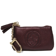 Gucci Soho Keychain wallet at Queen Bee of Beverly Hills