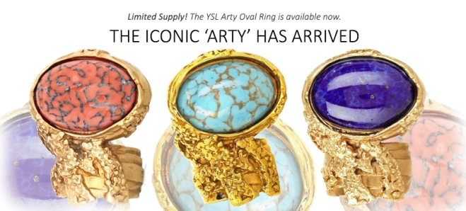 Iconic YSL Arty Rings at Queen Bee of Beverly Hills
